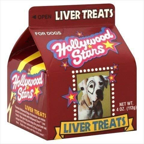 HOLLYWOOD HOLLYWOOD STARS LIVER DOG TREA, 4 OZ (Hollywood Stars Dog Treats)