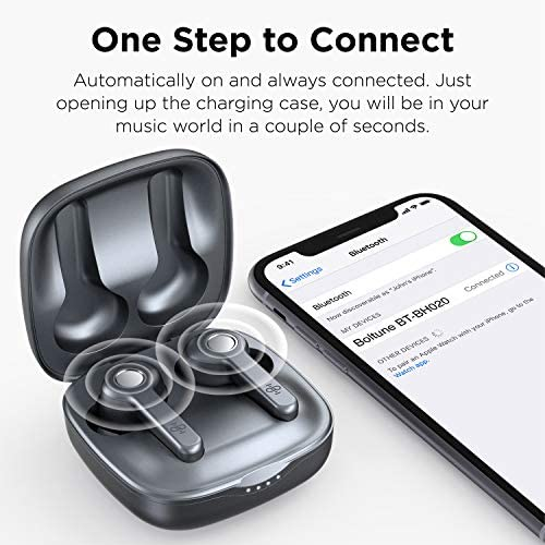 Wireless Earbuds | Boltune Bluetooth 5.0 Earbuds | 40 Hr Playing Time | USB-C Quick Charge | IPX8 Waterproof |Stereo Sound Deep Bass Bluetooth Headphones | Built-in Mic - Grey 11