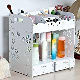 FLHSLY Waterproof Desktop Cosmetic Finishing Storage Shelf Put on makeup Skin care products Storage box Multifunction Cosmetic case storage