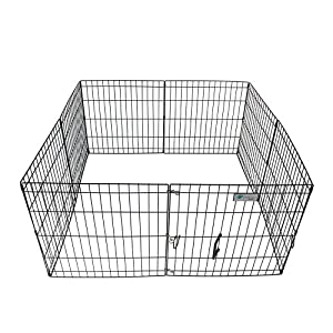 ValuPlanet Epoxy Folding Dog Exercise Pen, 30-Inch, Black Click on image for further info.