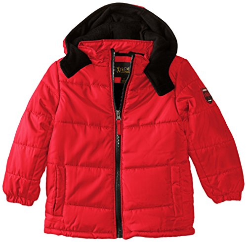 iXtreme Puffer Red Basic Boys' Ripstop Coat ASAHqr