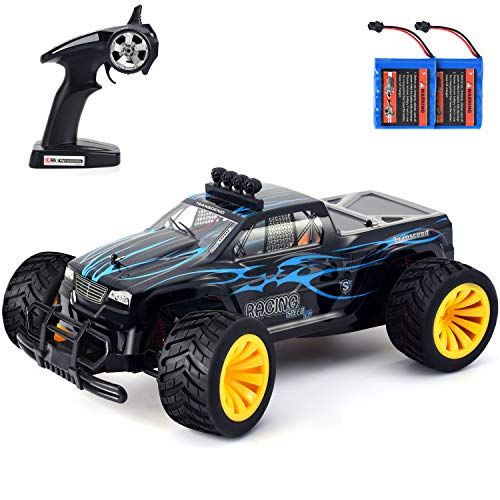 Geburun 1:16 High Speed Remote Control Car 2.4GHz RC Car with Two Rechargeable Batteries