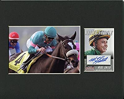 Mike Smith Kentucky Derby Winner Rare Racing HOF Signed Autograph Photo Display - Autographed Sports Photos