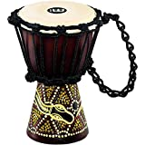 Meinl Percussion HDJ6-XXS Dark Serpents Design Rope Tuned Mahogany Wood 4 1/2-Inch Mini Djembe with Goat Skin Head