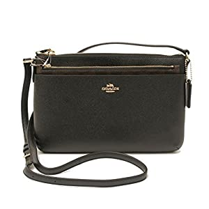 COACH Crossgrain Leather E/W Pop Crossbody