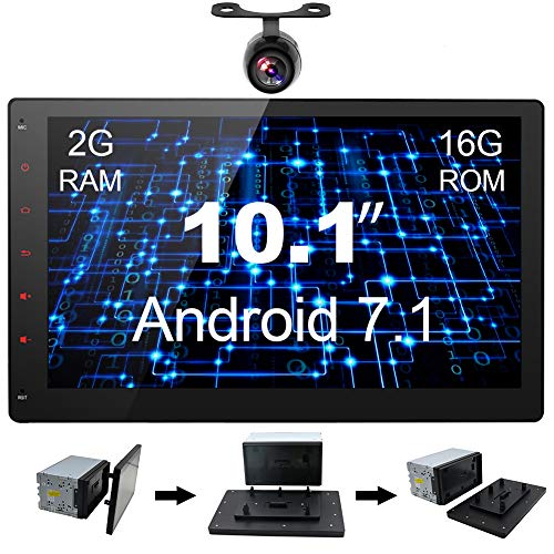 YUNTX 10.1 Inch Tablet-Style Car Stereo,In Dash Navigation w