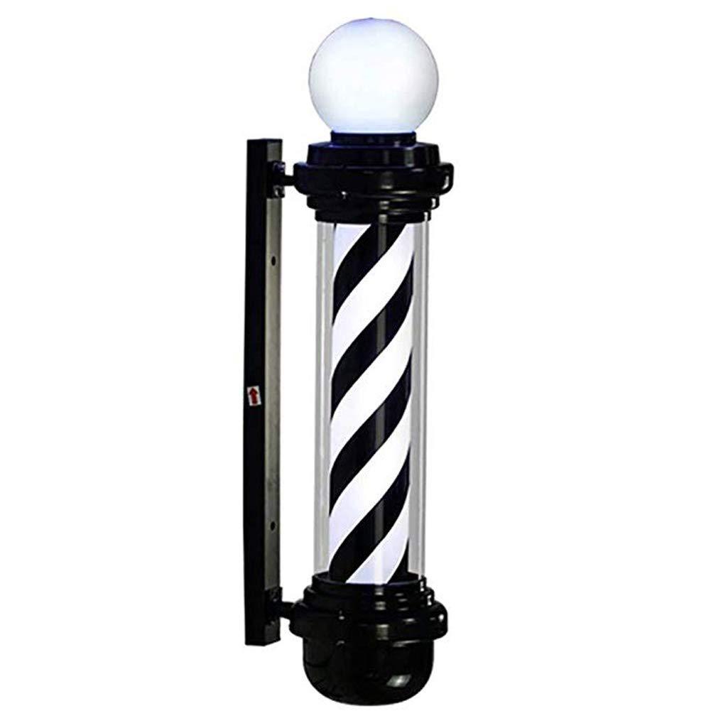 XGPT LED Barber Pole Black White Stripes Rotating Illuminating Waterproof Light Hair Salon Shop Sign Lamp Wall-Mounted Lamp,88Cm