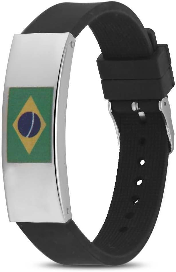 fosa Pulseras de Silicona Personalizada Clásica Pulsera de Deportes de Moda Copa Mundial de la Fútbol 2018 FIFA Apoyos de Ventilador 1 Pieza(Brazil): Amazon.es: Deportes y aire libre