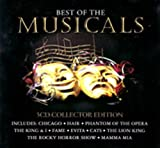 Best of the Musicals: 5 CD Collector Edition in Tin Case (Includes 100 Songs from: Chicago, Hair, Phantom of the Opera, The King & I, Fame, Evita, Cats, The Lion King, The Rocky Horror Show, Mamma Mia, Oklahoma!, South Pacific, Jesus Christ Superstar, Sunset Boulevard, Fiddler on the Roof, Joseph & the Amazing Technicolor Dream Coat, Carousel, Annie, Oliver, Little Shop of Horrors, Cabaret, The Wizard of Oz, Singing in the Rain, Show Boat, Follies, We Will Rock You, Saturday Night Fever, Buddy, The Blues Brothers, Beauty & the Beast, Chess, Return to the Forbidden Planet, Tommy, Blood Brothers, Grease, High Society, West Side Story, Les Miserables, Starlight Express, Godspell, Whistle Down the Wind, 42nd Street, Miss Saigon, A Chorus Line, The Boyfriend, La Cage Aux Folles, Company, & Fosse)