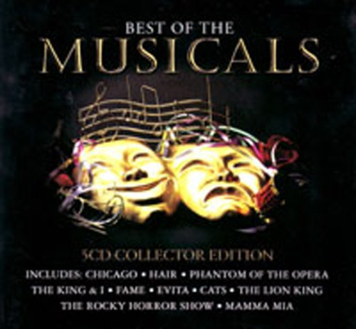 Best of the Musicals: 5 CD Collector Edition in Tin Case (Includes 100 Songs from: Chicago, Hair, Phantom of the Opera, The King & I, Fame, Evita, Cats, The Lion - Malls In Chicago Best