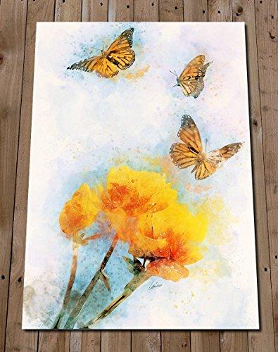 Butterfly Art Print Watercolour Painting - Garden Home Decor - Monarch Butterfly Spring Flower Poster - Kitchen Wall Art from Fleeting Art Studio