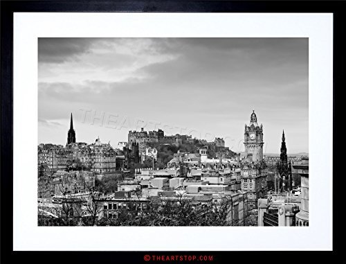 Rooftop Framed (CITYSCAPE EDINBURGH CASTLE ROOFTOPS Framed Wall Art Wall Picture Frames Wall Decor Pictures for Living Room Bedroom Office 30x40 cm)