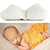 Newborn Photography Poser Pillow Props | 2 PC Wedge Shaped Adjustable Baby Posing Pillows | Infant Butterfly Wheat Positioner Pillow Photo Prop | Basket Filler | 2018 Design & Quality Girl Or Boy (1)