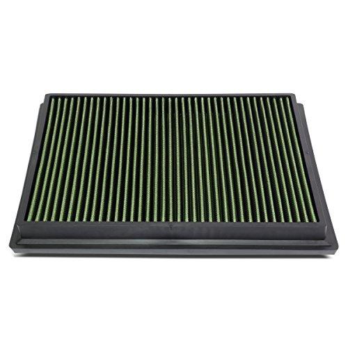 DNA Motoring AFPN-174-GN Green Panel Air Filter [For 15-18 Toyota Hilux Revo/Fortuner]