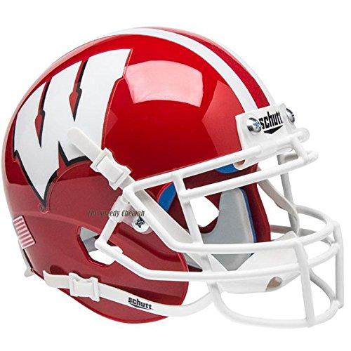 Badgers Wisconsin Helmet - Wisconsin Badgers Scarlet Officially Licensed Full Size XP Replica Football Helmet
