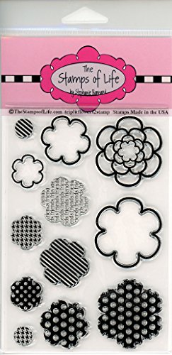 The Stamps of Life TriplitFlower2Stamp Cute Triplit Flower Stamps for Card-Making and for Scrapbooking by Stephanie Barnard - Patterns