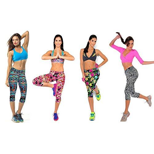 da Yoga Alta Pantaloni Elastici Donna Collant Stampa Leggins Colore Fliegend Up 3 Leggings Vita Push Pantaloni Sportivi 12 4 zfwZY01q