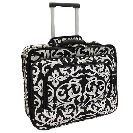 """Ladies Damasco Rolling Bolsa de ordenador portátil Brief Case – -se ajusta a 13 """""""