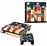 LLC Integral – White WW2 Bombing Girl Decal Cover for Sony PlayStation 4 slim PS4 Console Gamepad pack Sticker + 2 Skins stickers for dualshock 4 Controller For Sale
