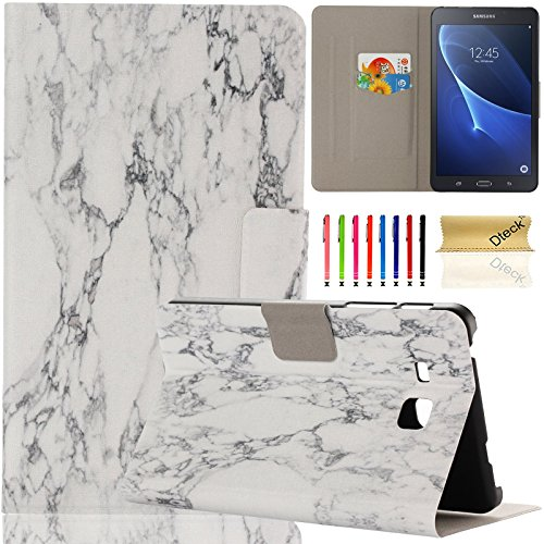Galaxy Tab A 7.0 inch Case, Samsung SM-T280, Dteck Ultra Slim PU Leather Flip Stand Case with Cards Slots Protective Cover for Samsung Galaxy Tab A 7.0 T280 T285 (01 Stone)