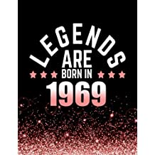 Legends Are Born In 1969: Birthday Notebook/Journal For Writing 100 Lined Pages, Year 1969 Birthday Gift For Women, Keepsake (Pink & Black)