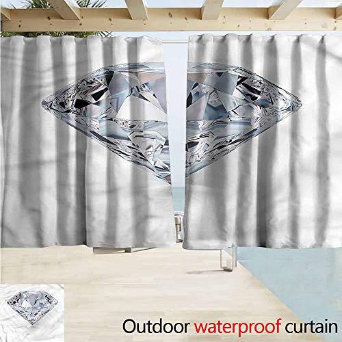 MaryMunger Darkening Curtains Diamonds Nobility Royalty Treasure Simple Stylish Waterproof W63x45L Inches ()