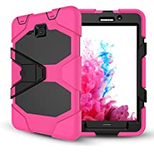 Samsung Galaxy Tab A 7.0 Case with Screen Protector,Jeccy Full-body Shock Proof Hybrid Heavy Duty Armor Defender Protective Case with Kickstand, Silicone Plastic Case for Samsung Tab A7 (SM-T280/T285)