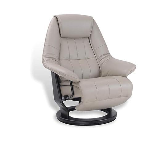 EROS, sillón de Relax eléctrico, Muy cómodo, de Piel Gris ...