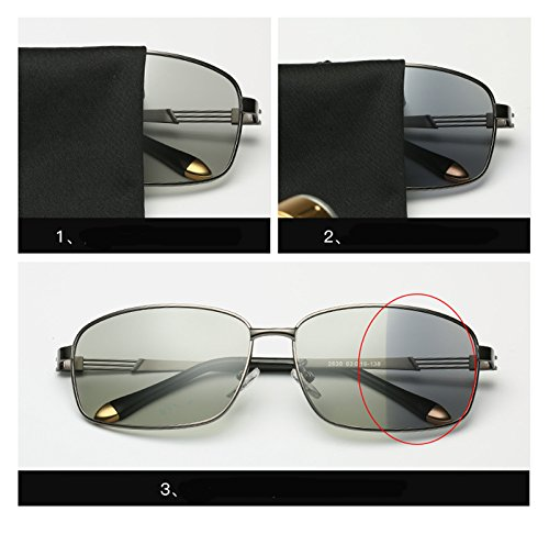 Use Grey Frame Sunglasses Fashion Men A day Use Discoloration Eyeglasses Sunglasses Avitor SquareAnti discolor Night Shield Day Travel Polarized and Sunglasses Coolest Sunglasses UV Eyewear Lens Driving Gun vqFSR6