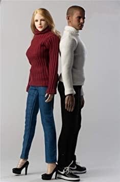"1:6 Sweater Jeans Pants Shoes Clothes JOA-37 F 12/"" Female PH JO TBL Figure Body"