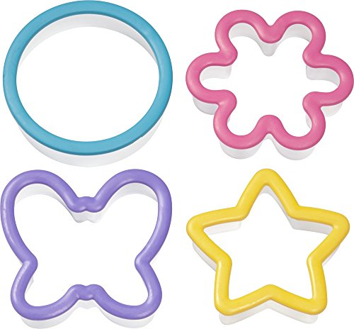 Wilton 2311-1337 4-Piece Comfort Grip Cookie Cutter Set, Assorted 4 Piece Comfort Grip