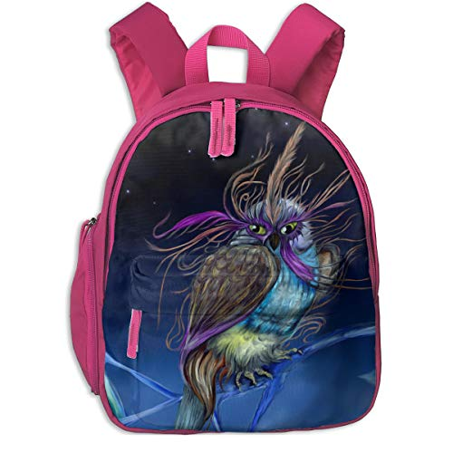 Purple Owl With Mask Night Sky Children's/Kids School/Nursery/Picnic/Carry/Travelling Bag Backpack Daypack Bookbags -