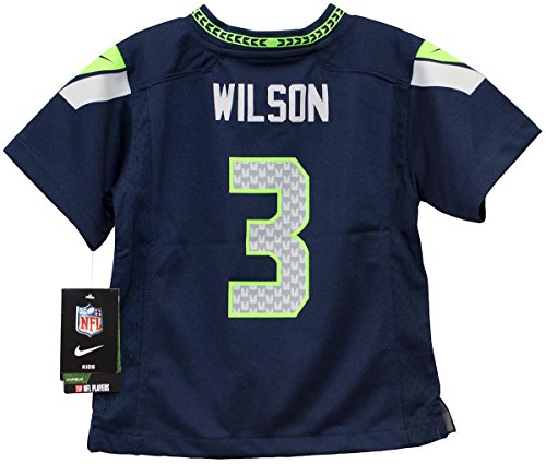 Russell Wilson Seattle Seahawks Toddler Youth Game Jersey. (Navy)