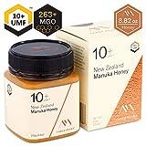 Three Peaks Manuka Honey New Zealand - Certified UMF 10+ - 8.82 oz (250gm) - 100% Natural honey, Raw honey - Ultra Premium, Healing Manuka honey
