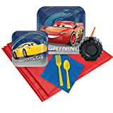 BirthdayExpress Cars 3 Party Supplies Party Pack with Favor Cups (16)