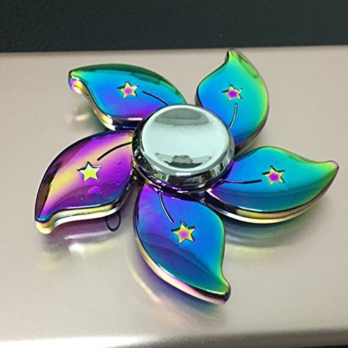 Fidget Hand Spinner Sunvy Beautiful Flower Hand Fidget Spinner Rainbow Toy EDC Luxury Unique Design Helps You Focus And Reduce Stress