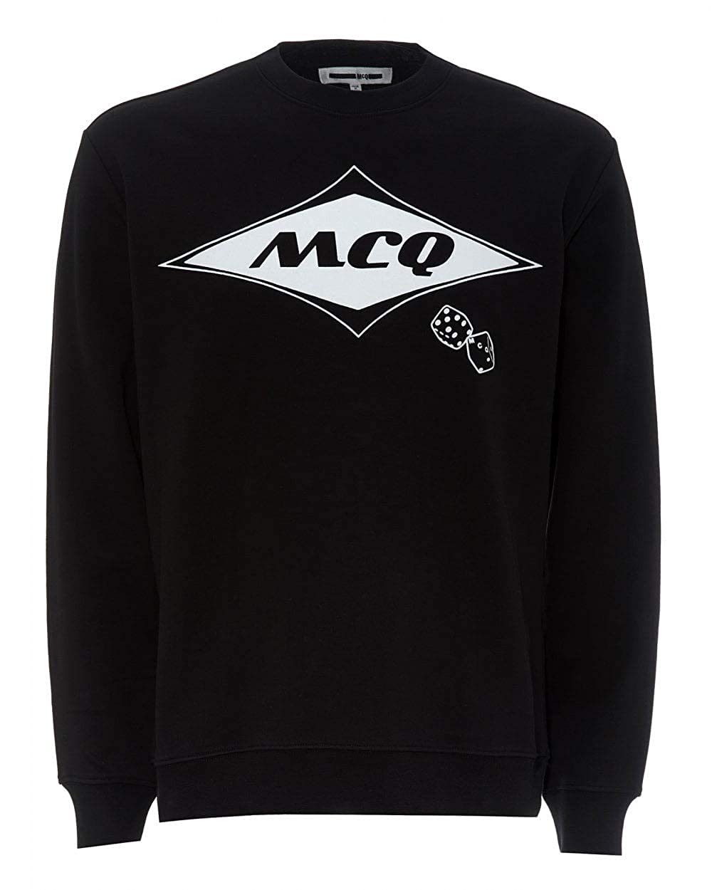 Black L MCQ by Alexander McQueen Mens Dice Logo Sweatshirt