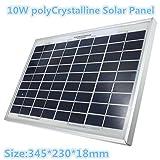 10W 12V 345mm x 230mm x 18mm Poly Crystalline Cells Solar Panel
