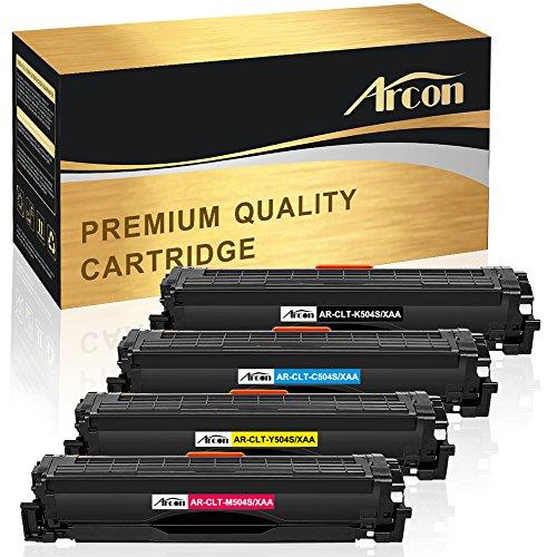 Arcon 4 Packs Compatible for Samsung CLT-K504S CLT-M504S CLT-C504S CLT-Y504S Toner Cartridge Samsung Xpress CLX-4195FW Toner CLP 415NW SL-C1860FW SL-C1810W CLX-4195 CLX-4195N SL-C1860FW/XAA Printer (4 Pack Laser Toner)