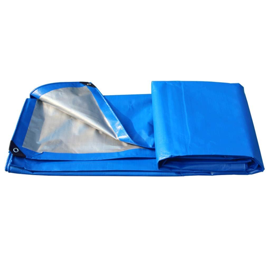 JHEY Regenfestes Planensonnenschutz-Auto-LKW-im Freien Plane-Schatten segelt Plane-Blau