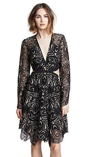 THURLEY Women's Gaia Dress, Black/Pewter, 12