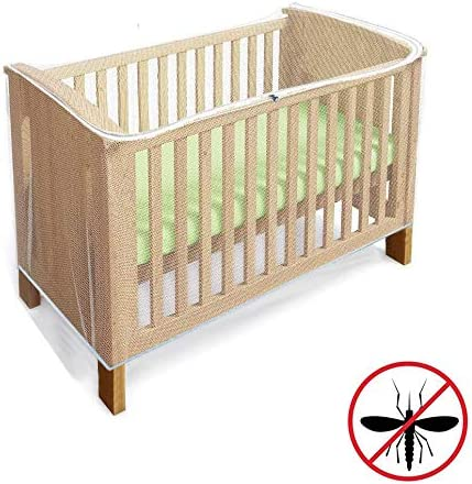 Crib Mosquito Net with Zipper Feature for Quick Easy Access to Your Baby Cot Bed Insect Net Universal Size for Most Cot