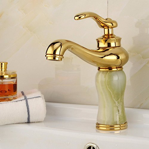 OLQMY-Copper, jade, lavatory faucet, lift type, gold-plated Washbasin faucet best