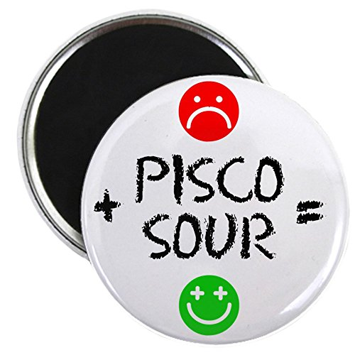 (CafePress - Plus Pisco Sour Equals Happy - 2.25