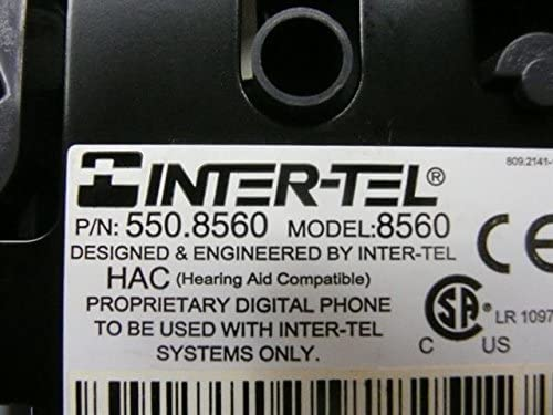 17 Button Large Display Digital Telephone with Enhanced Speakerphone Inter-tel Axxess Jaguar 8560 550.8560 550.7300