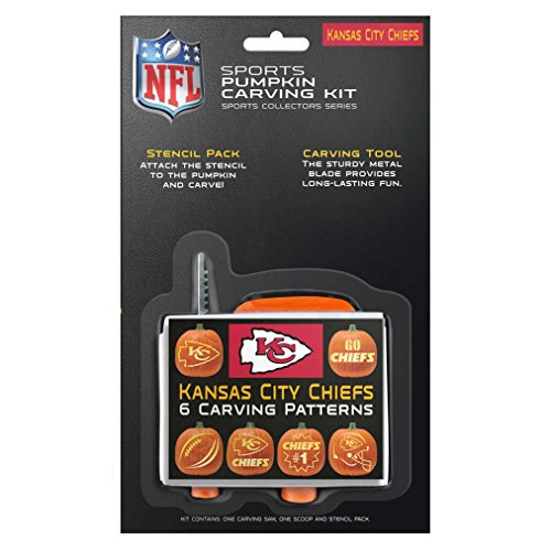 NFL Kansas City Chiefs Pumpkin Carving Kit (Kc Chiefs Halloween)
