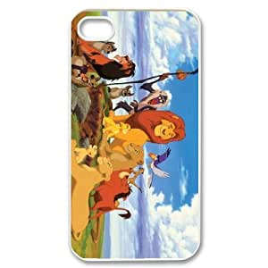 WJHSSB Customized Print Lion King Pattern Back Case for iPhone 4/4S