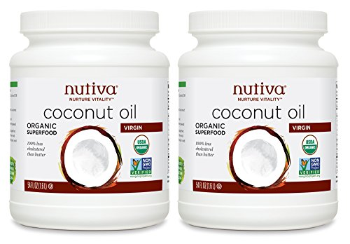 Nutiva Organic Coconut Oil, Virgin, 54 Ounce (Pack of 2)