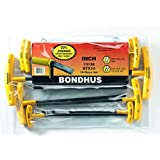 Bondhus 13138 Set of 10 Balldriver and Hex T-handles, sizes 3/32-3/8-Inch by Bondhus