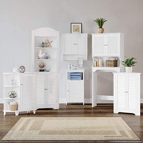 home, kitchen, furniture, accent furniture,  storage cabinets 1 picture RiverRidge Ellsworth Collection Two-Door Wall Cabinet, White deals